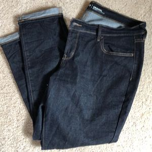 Original mid rise dark jeans (14 short)